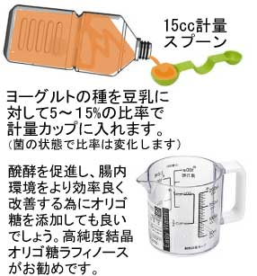 乳酸菌液を計量スプーンで計ってカップに入れる