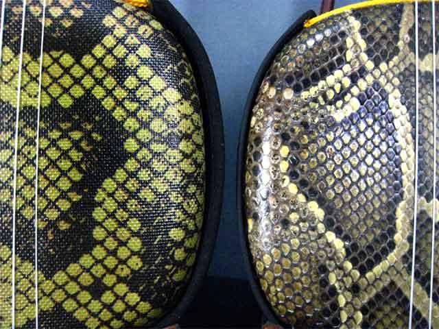 本皮と人工皮の比較